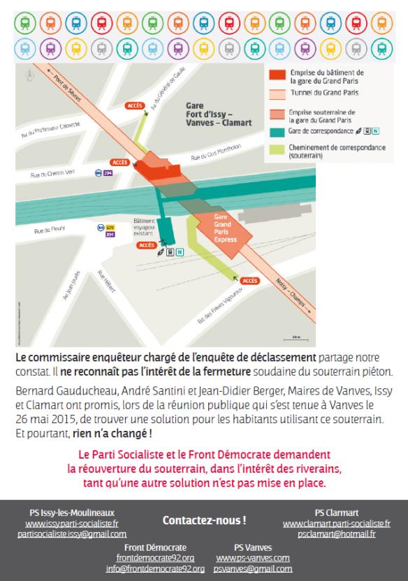 Tract Gare de Clamart verso